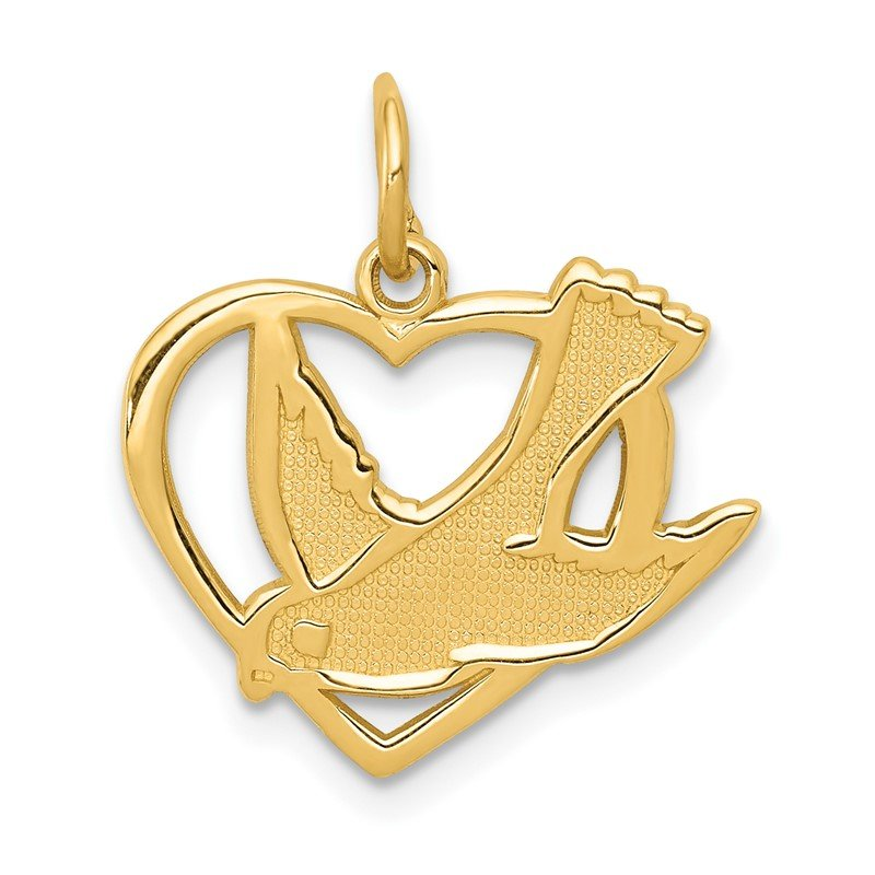 Fine Jewelry by JBD 14k Peace Bird Charm