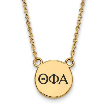 Gold-Plated Sterling Silver Theta Phi Alpha Greek Life Necklace