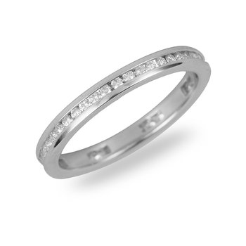 14K WG Diamond Eternity Ring in Channel Setting 1/3 cts