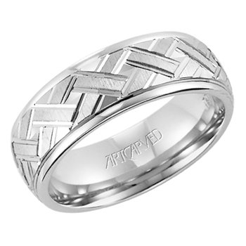 "14K White Gold ""Incarnation"" Comfort Fit Wedding Band"