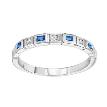 14K Sapphire & Diamond Mixable Ring