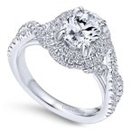 Gabriel Bridal 14K White Gold Oval Diamond Engagement Ring