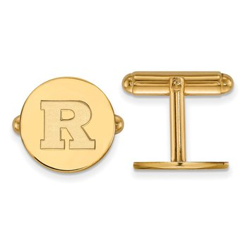 Gold Rutgers University NCAA Cuff Links