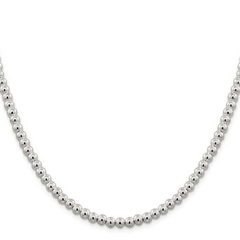Sterling Silver 5mm Beads on Box Chain