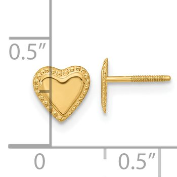 14k Madi K Heart Post Earrings