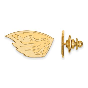 Gold Oregon State University NCAA Lapel Pin