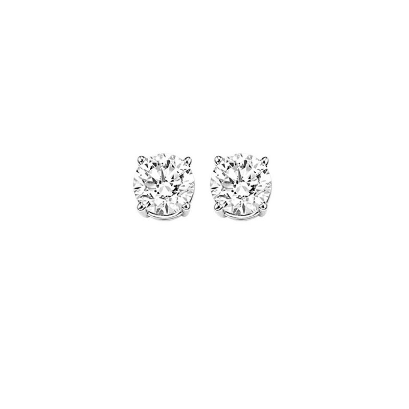 Gems One Diamond Stud Earrings in 14K White Gold (1/4 ct. tw.) I2/I3 - H/K