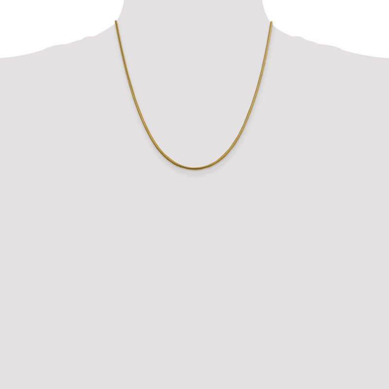 Quality Gold 14k 1.85mm Round Snake Chain