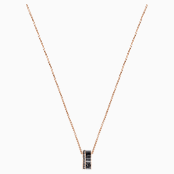 Alto Pendant, Gray, Rose-gold tone plated