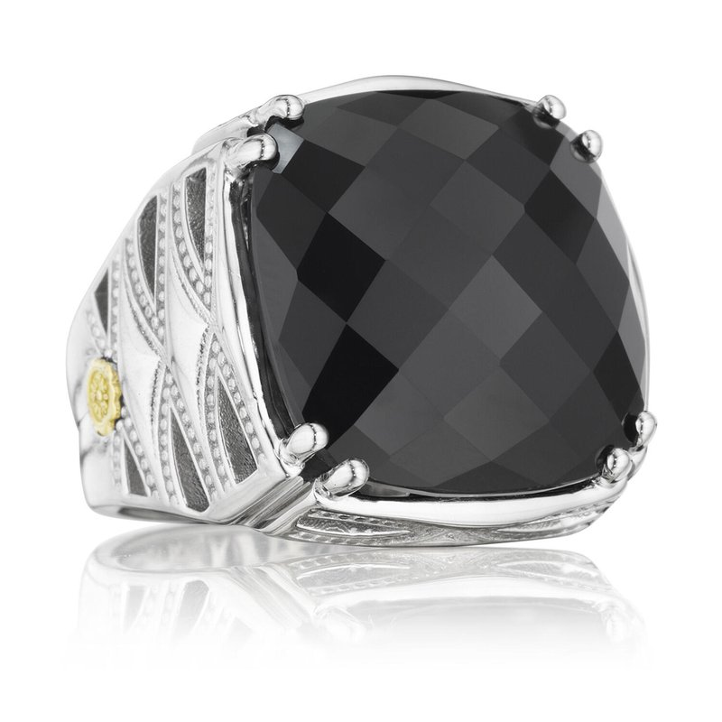 Tacori Fashion Bold Woven Crescent Ring featuring Black Onyx