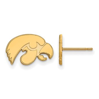 Gold-Plated Sterling Silver University of Iowa NCAA Earrings
