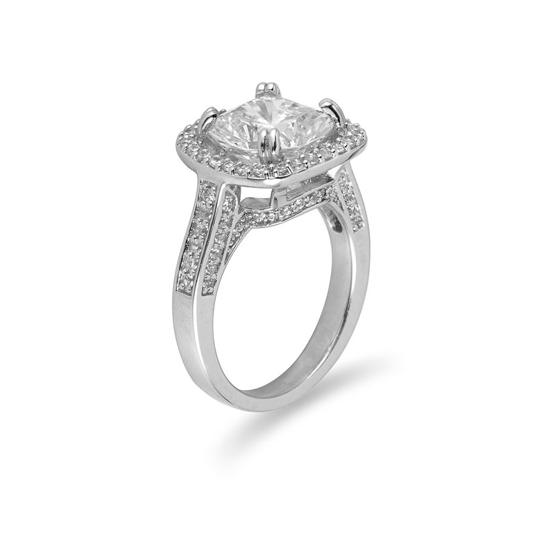 BB Impex 14K WG Diamond Engagement Ring for Mounting