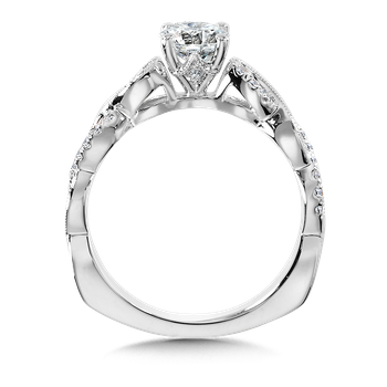 Diamond Engagement Ring Mounting in 14K white Gold (.11 ct. tw.)