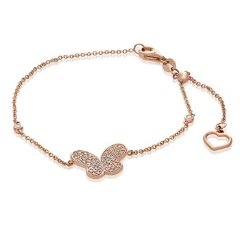 Rose Gold Butterfly Bracelet