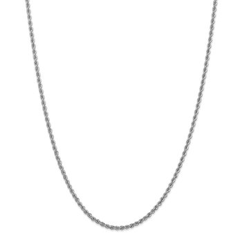 14k WG 2.5mm Regular Rope Chain