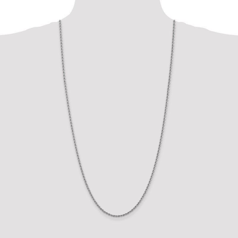 Quality Gold 14k WG 2.5mm Regular Rope Chain