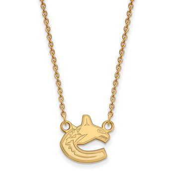 Gold Vancouver Canucks NHL Necklace