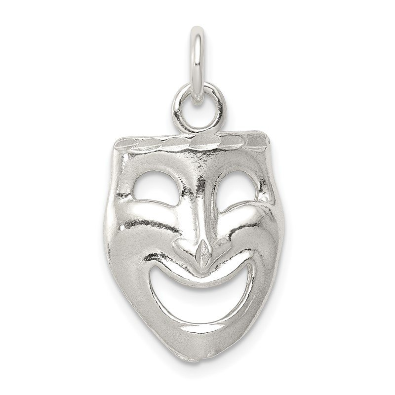Quality Gold Sterling Silver Comedy Mask Charm