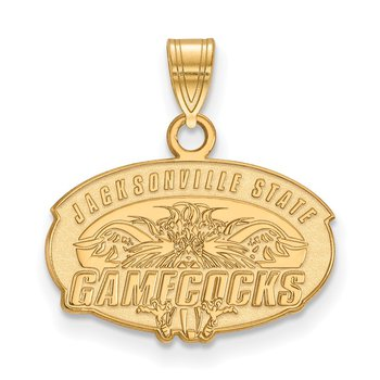 Gold-Plated Sterling Silver Jacksonville State University NCAA Pendant