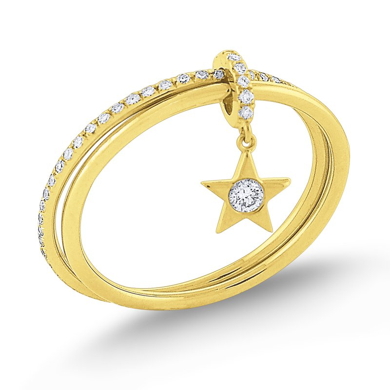 KC Designs Diamond Lucky Charm Star Ring Set in 14 Kt. Gold