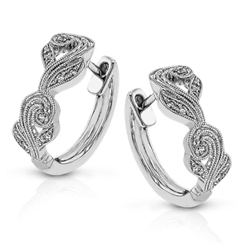 Simon G 18kt white gold diamond earrings, 16=0.18ct. Available at our Halifax store.