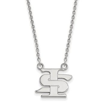 Sterling Silver Indiana State University NCAA Necklace