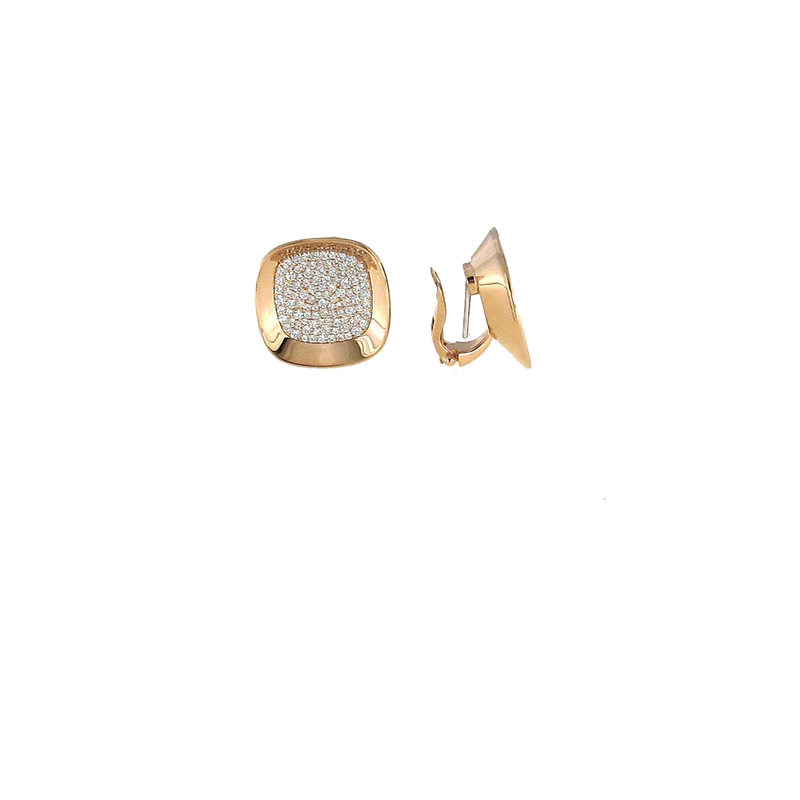 Roberto Coin 18Kt Rose Gold Earrings With Diamonds