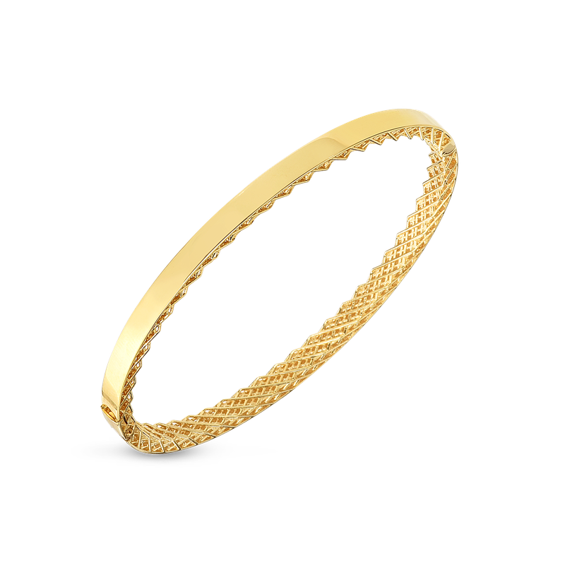 Roberto Coin  #28990 Of 18Kt Gold Golden Gate Oval Bangle