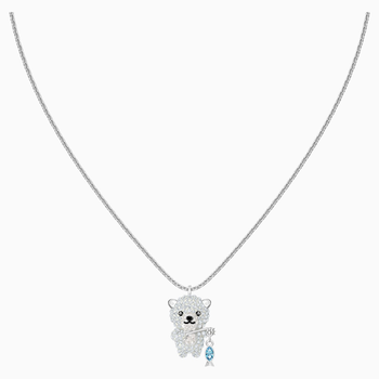 Polar Pendant, Multi-colored, Rhodium plated