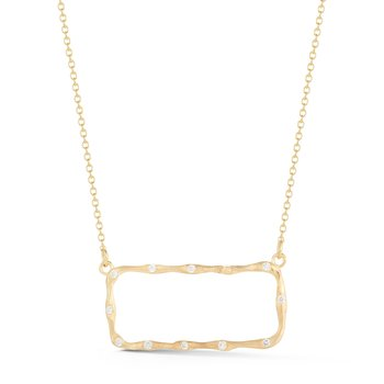 14K-Y EAST-WEST RECTANGLE PENDANT .25CT