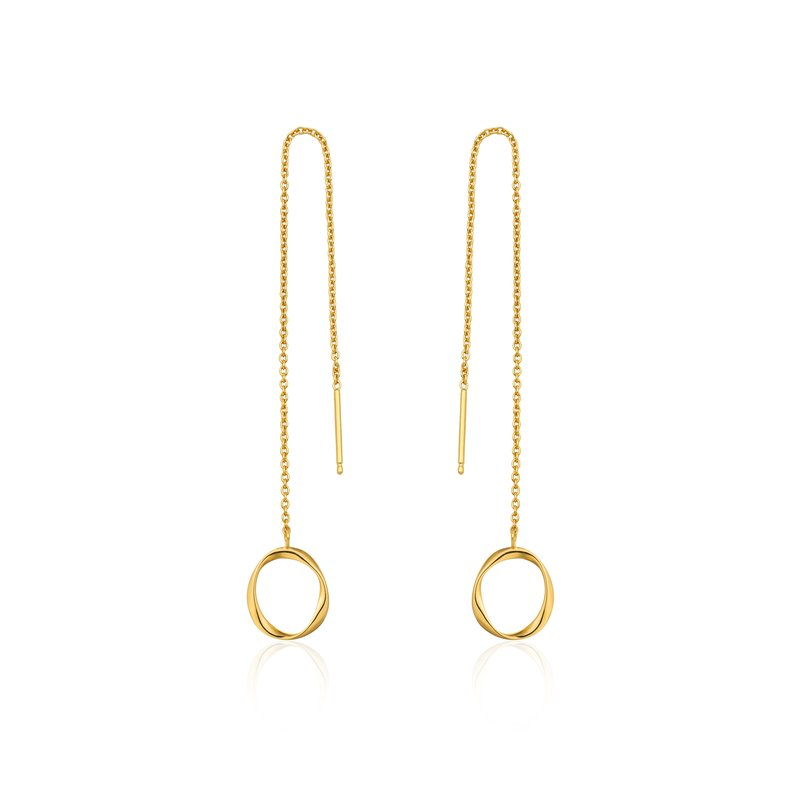 Ania Haie SWIRL THREADER EARRINGS