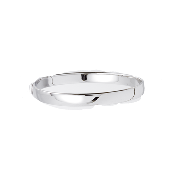 18Kt White Gold Flat Bangle