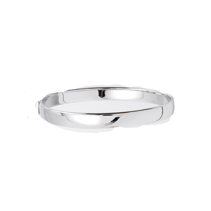 Roberto Coin 18Kt White Gold Flat Bangle