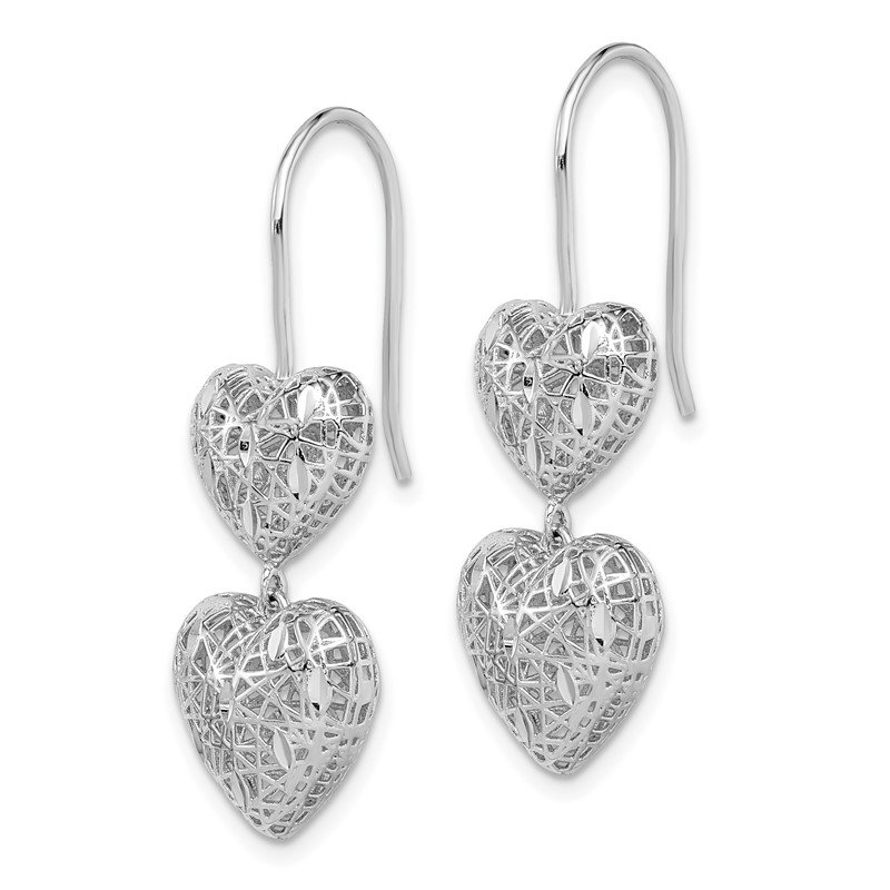 Details about  /14K Two-Tone Gold Satin Heart Stud Post Earrings MSRP $133
