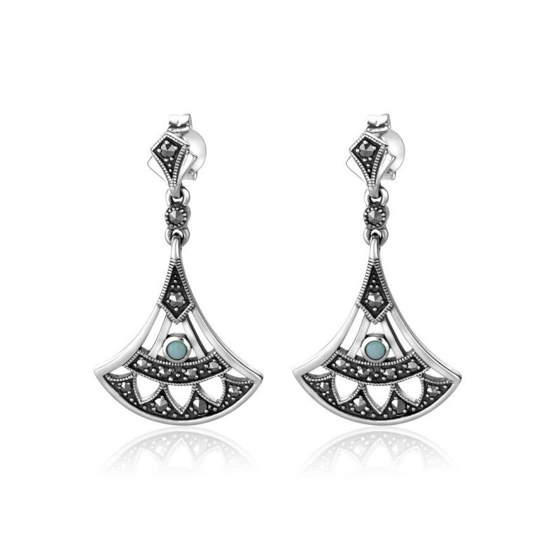 LARUS Jewelry Fan-shaped Earrings