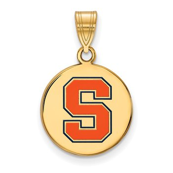 Gold-Plated Sterling Silver Syracuse University NCAA Pendant