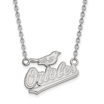Sterling Silver Baltimore Orioles MLB Necklace