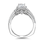 Valina Diamond Halo Engagement Ring Mounting in 14K White Gold (0.51 ct. tw.)