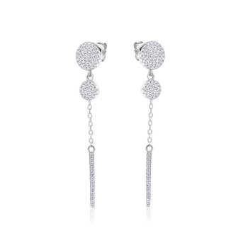 Dangling two stud earrings