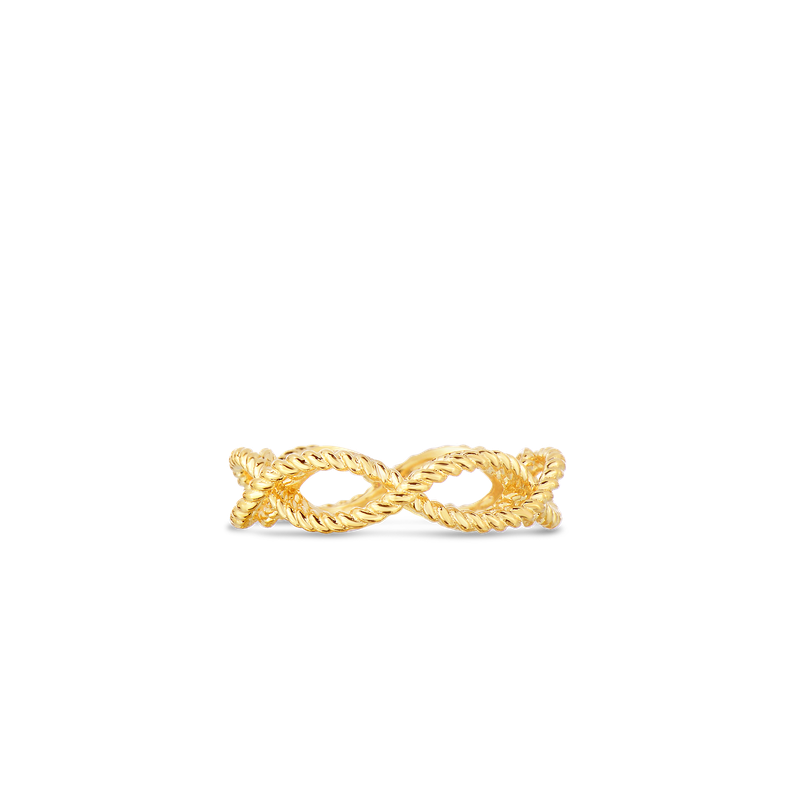 Roberto Coin 1 Row Ring &Ndash; 18K Yellow Gold, 8