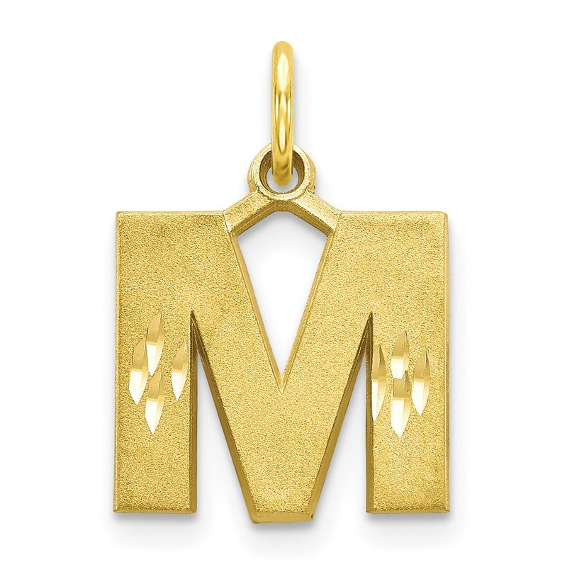 Quality Gold 10k Initial M Charm