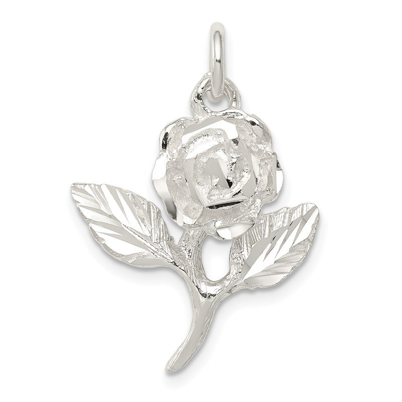 Quality Gold Sterling Silver Rose Pendant