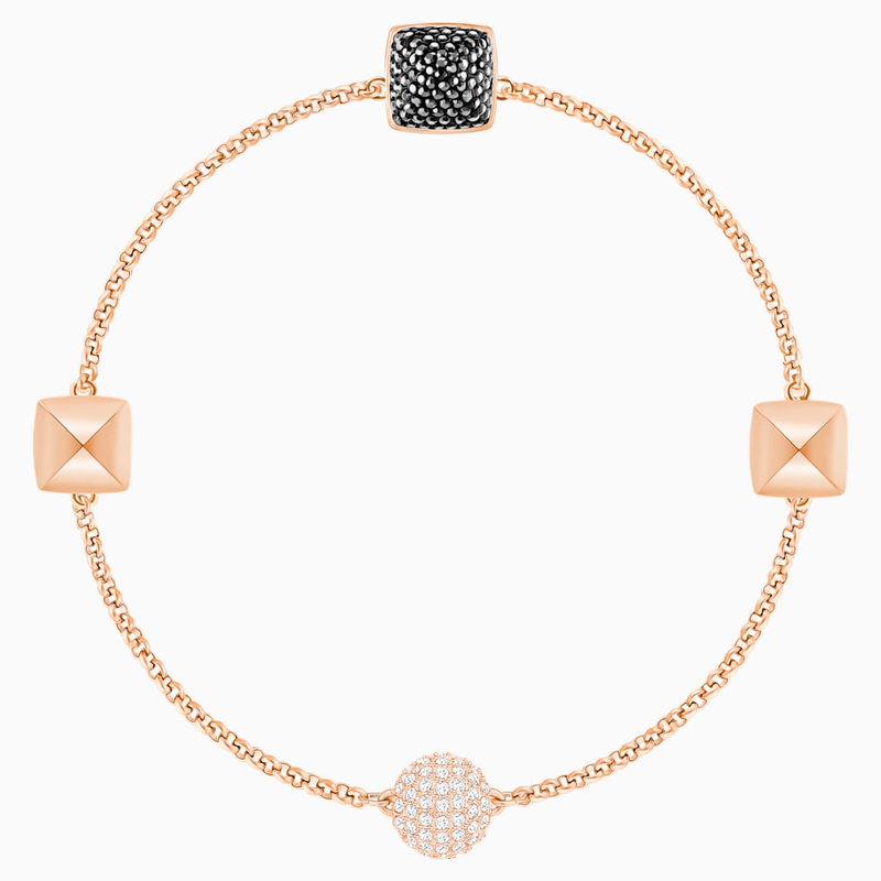 Swarovski Swarovski Remix Collection Spike Strand, Black, Rose-gold tone plated