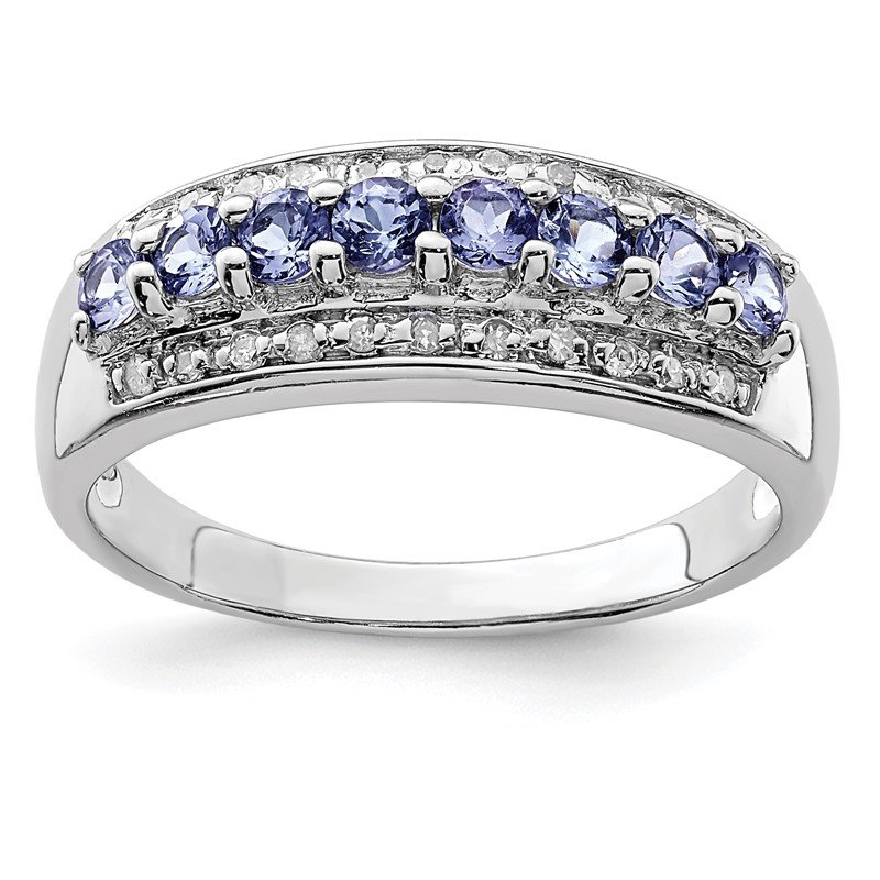 Lester Martin Online Collection Sterling Silver Rhodium Tanzanite & Diam. Ring