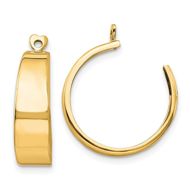 Quality Gold 14k Polished Hoop Earring Jackets