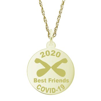 Covid-19 Best Friends Elbow Bump Necklace Set