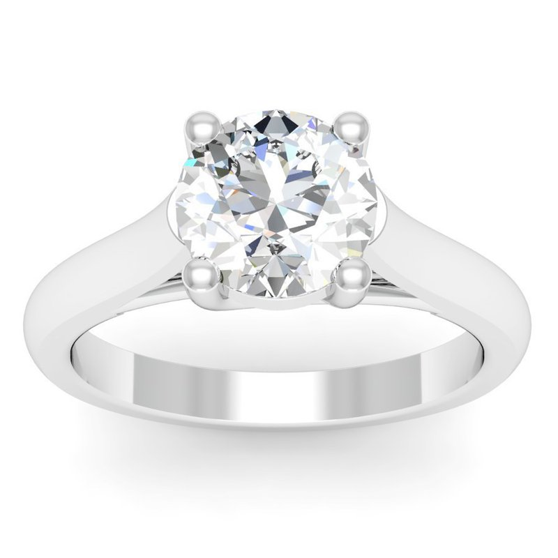 J.F. Kruse Signature Collection Petite Solitaire Engagement Ring