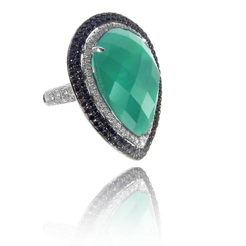 MAZZARESE Couture Emerald Dreams Green Agate Ring