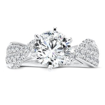 Grand Opulance Collection 6-Prong Criss Cross Diamond Engagement Ring in 14K White Gold with Platinum Head (2ct. tw.)