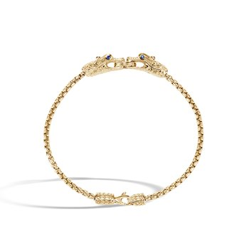 Legends Naga Station Bracelet in 18K Gold with Diamonds